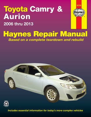 Image for Toyota Camry & Aurion 2006-2013 (92709) Haynes Automotive Repair Manual