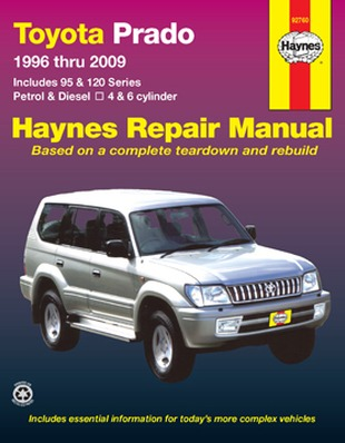 Image for Toyota Prado 95 & 120 Series 1996-2009 (92760) Haynes Automotive Repair Manual