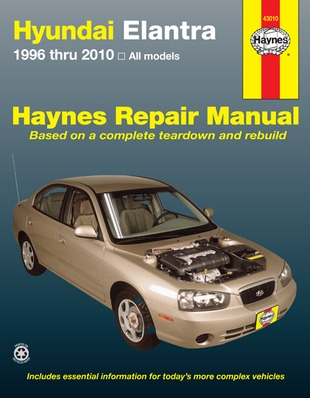 Image for Hyundai Elantra 1996-2013 (43010) Haynes Automotive Repair Manual *** TEMPORARILY OUT OF STOCK ***