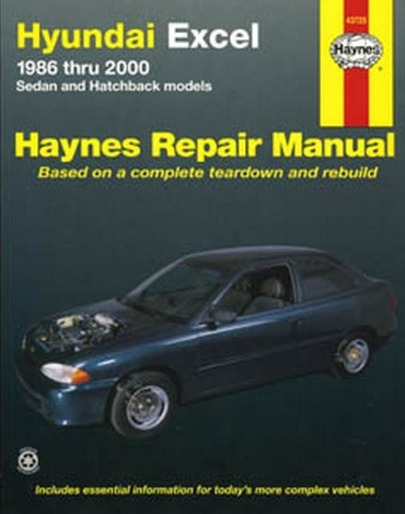 Image for Hyundai Excel 1986-2000 Sedan & Hatchback  (43725) Haynes Automotive Repair Manual