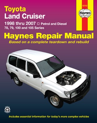 Image for Toyota Land Cruiser 78 79 100 & 105 Series Petrol & Diesel 1998-2007 (92752) Haynes Automotive Repair Manual