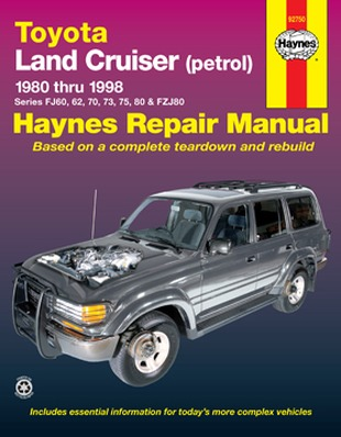 Image for Toyota Land Cruiser Petrol 1980-1998 (92750) Haynes Automotive Repair Manual