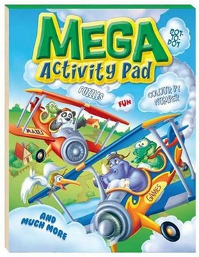Image for Mega Activity Pad: Games Fun Puzzles Mazes Dot-to-Dot Colour by Number and much more