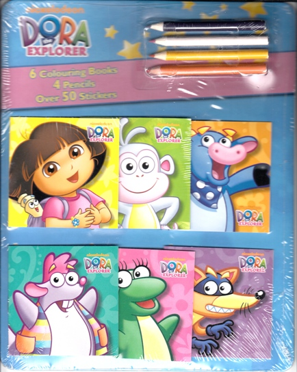 Image for Dora the Explorer: 6 Colouring Books 4 Pencils Over 50 Stickers