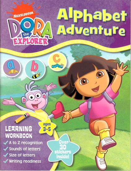 Image for Dora the Explorer Alpahabet Adventure: Learning Workbook ages 3-5