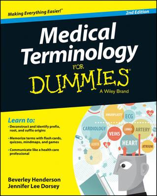 Image for Medical Terminology for Dummies 2E