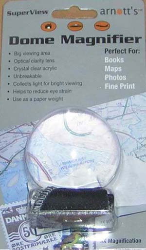 Image for Acrylic Dome Magnifier 75mm diameter 3X Magnification