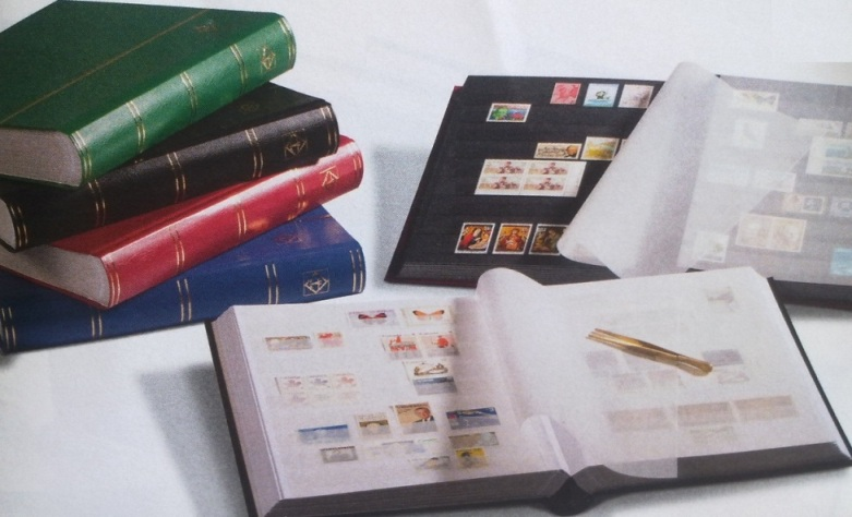 Image for Stamp Album: A4 Basic Stockbook 64 White Pages (with horizontal centre strip) - Black Cover