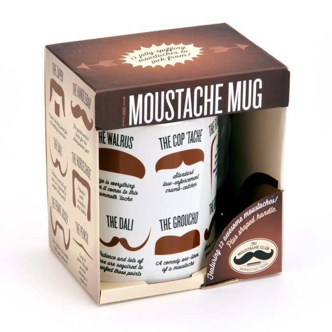 Image for Moustache Mug: Featuring 12 awesome moustaches! Plus shaped handle