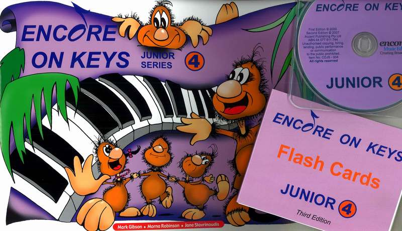 Image for Encore on Keys Junior Series 4 Piano/Keyboard - CD and Flash Cards Included