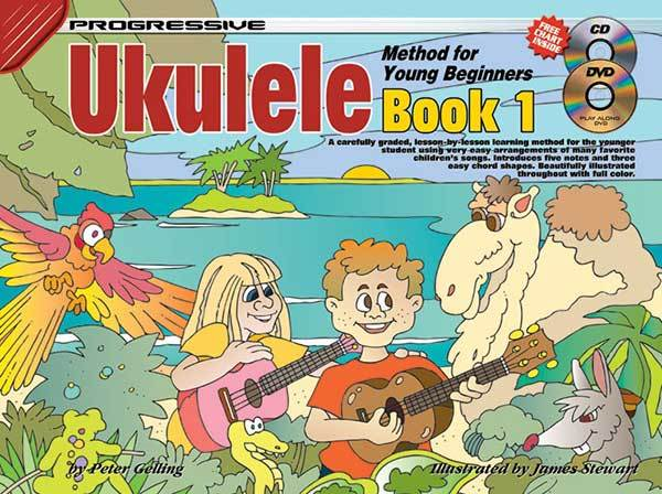 Image for Progressive Ukulele Method for Young Beginners Book 1(Includes CD/DVD)