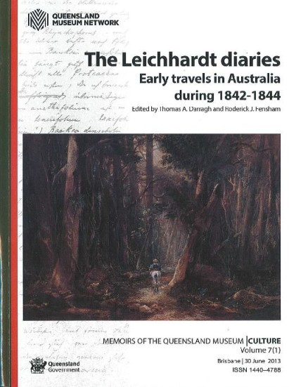 Image for The Leichhardt Diaries: Early travels in Australia during 1842-1844 Ludwig Leichhardt