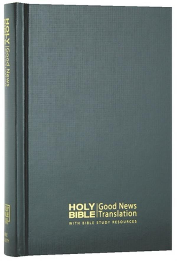 Image for Good News Bible with Bible Study Resources Compact Black Hardcover