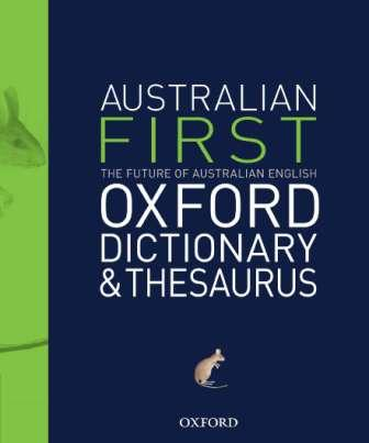 Image for First Australian Oxford Dictionary and Thesaurus