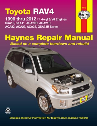 Image for Toyota RAV4 1996-2012 4-cyl & V6 Petrol (92782) Haynes Automotive Repair Manual
