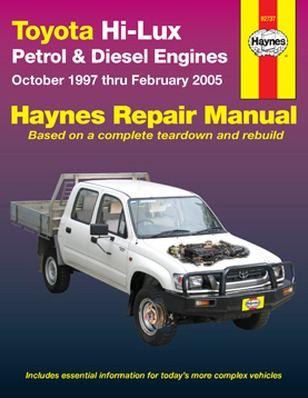 Image for Toyota Hi-Lux Petrol & Diesel 2WD & 4WD 1997-2005  (92737) Haynes Automotive Repair Manual