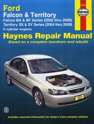 Image for Ford Falcon Fairmont  BA & BF 2002-08 Fairlane BA BF 2003-07 Territory SX & SY 2004-09  (36734) Haynes Automotive Repair Manual