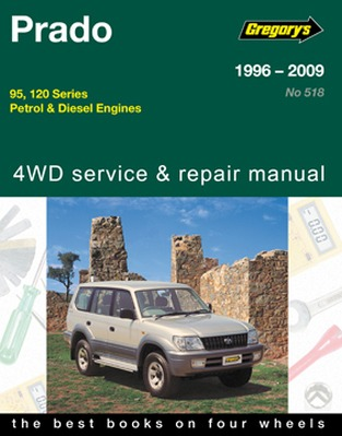 Image for Toyota Prado 1996-2009 95 and 120 Series Petrol and Diesel 4WD Service and Repair Manual 05515