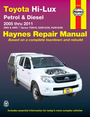 Image for Toyota Hi-Lux Petrol & Diesel 2WD & 4WD 2005-2011  (92738) Haynes Automotive Repair Manual