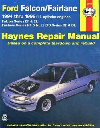 Image for Ford Falcon EF EL / Fairlane NF NL / LTD DF DL 1994-1998 6-cylinder  (36732) Haynes Automotive Repair Manual