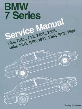 Image for BMW 7 Series Service Manual 735i, 735iL, 740i, 740iL, 750iL, 1988, 1989, 1990, 1991, 1992, 1993, 1994 [used book]