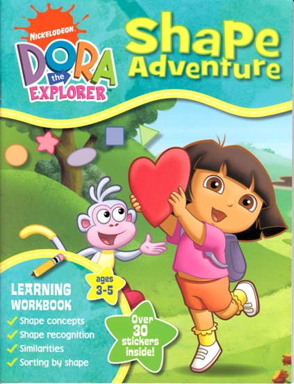 Image for Dora the Explorer Shape Adventure: Learning Workbook ages 3-5