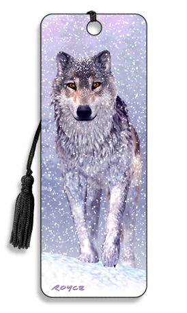 Image for Snow Wolf 3D Bookmark *** Temporarily Out of Stock ***