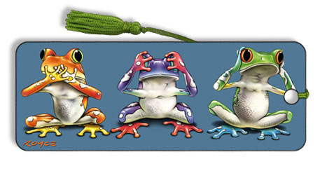Image for No Evil Frogs flip effect 3D Bookmark