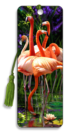 Image for Flamingos 3D Bookmark