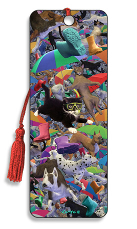 Image for Raining Cats and Dogs 3D Bookmark