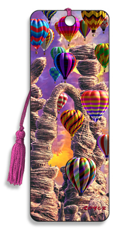 Image for Threading the Needle Hot Air Balloon 3D Bookmark