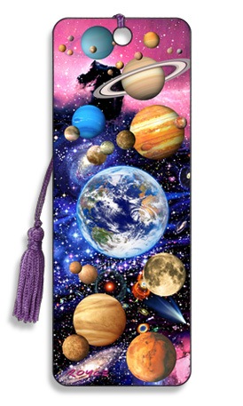 Image for You Are Here Planets 3D Bookmark