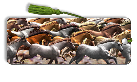 Image for Running Horses motion effect 3D Bookmark