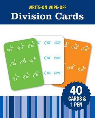 Image for Write-On Wipe-Off Division Cards: 40 cards and 1 pen