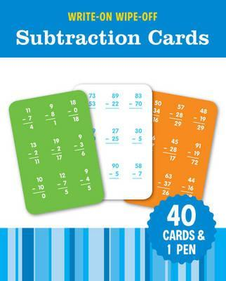 Image for Write-On Wipe-Off Subtraction Cards: 40 cards and 1 pen