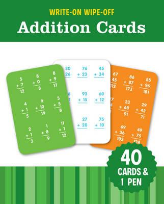 Image for Write-On Wipe-Off Addition Cards: 40 cards and 1 pen