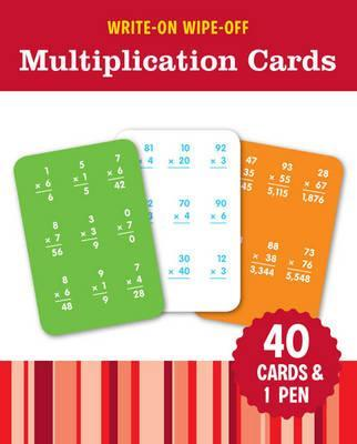 Image for Write-On Wipe-Off Multiplication Cards: 40 cards and 1 pen