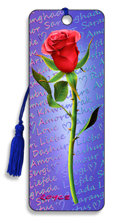 Image for Red Rose 3D Bookmark