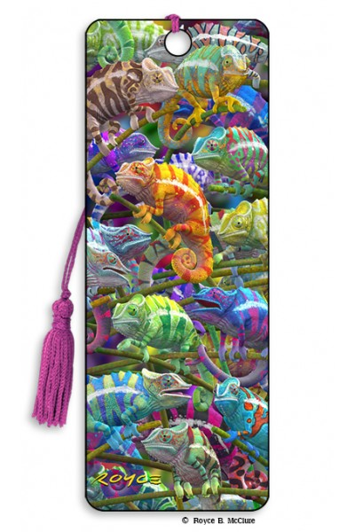 Image for Chameleons flip effect 3D Bookmark