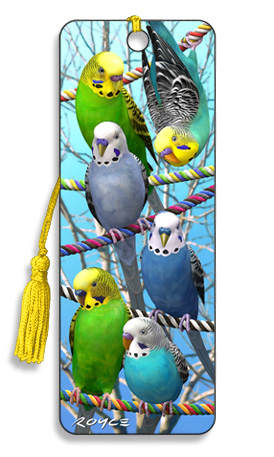 Image for Budgies 3D Bookmark