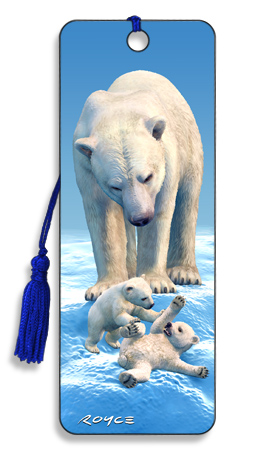 Image for Polar Bears 3D Bookmark