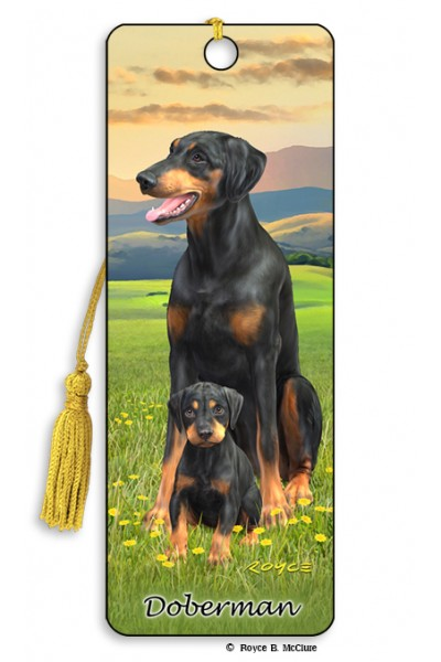 Image for Doberman flip effect 3D Bookmark