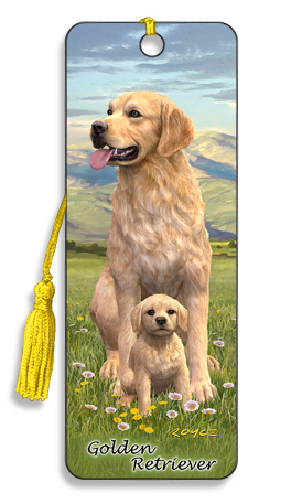 Image for Golden Retriever 3D Bookmark