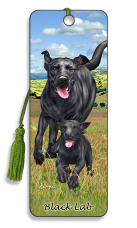 Image for Black Lab Black Labrador 3D Bookmark