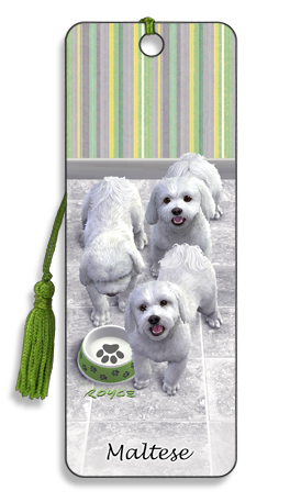 Image for Maltese 3D Bookmark