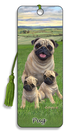 Image for Pug 3D Bookmark