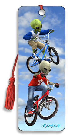Image for Grey vs. Green BMX 3D Bookmark