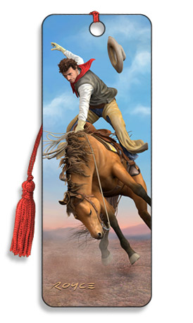 Image for Wild Thing Saddle Bronco Cowboy 3D Bookmark