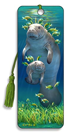 Image for Manatees 3D Bookmark