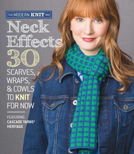 Image for Neck Effects: 30 Scarves, Wraps, & Cowls to Knit for Now Featuring Cascade Yarns Heritage # The Modern Knit Mix